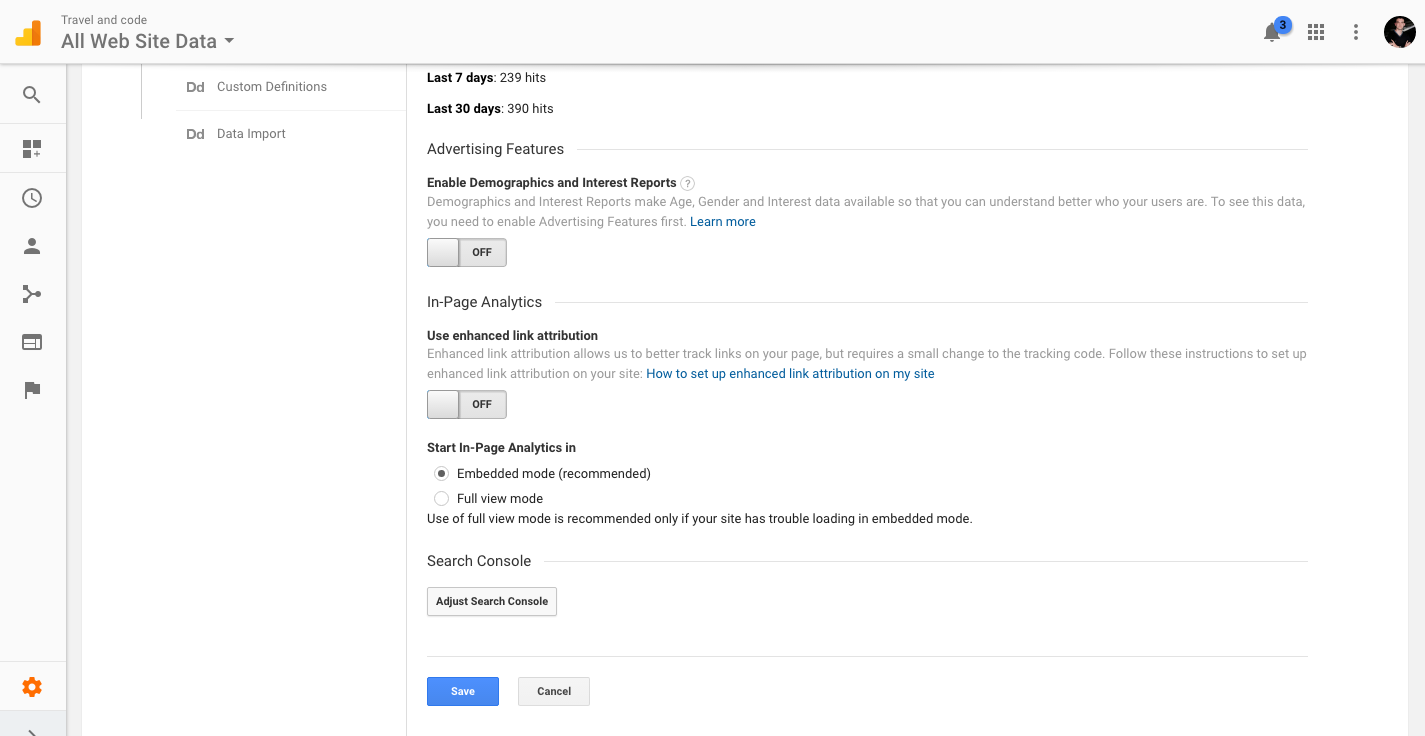 Google analytics search console adsense for Search console